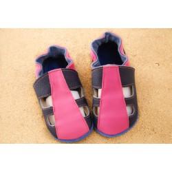 Chaussons été - rose et bleu