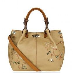 Sacs à main en cuir femme collection Adriana beige & marron