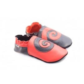 Spirale rouge et noir