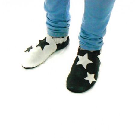 Chaussons cuir souple étoile