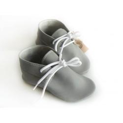 Mocassins cuir souple gris