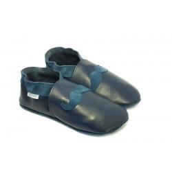 Promo taille 38/39 chaussons moustache bleu