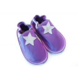 Petite gomme - violet - étoile beige