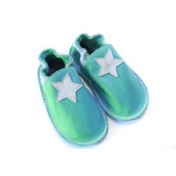 Petite gomme - turquoise - étoile beige