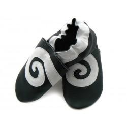 Soft slippers - swirl - nero