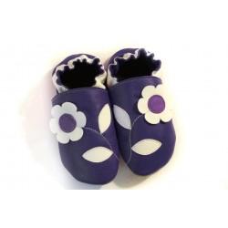 Soft slippers - flower - blu marino