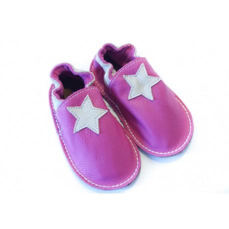 Petite gomme - étoile fuchsia