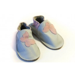 Soft sole shoes - perla - pink butterfly
