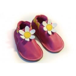 Soft sole shoes - fuxia - daisy