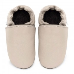 leather slippers white