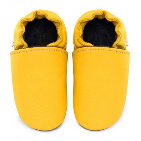 chaussons cuir - soleil