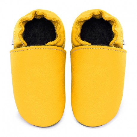 Soft leather slippers - soleil