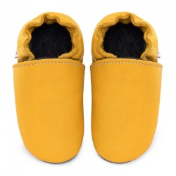 Soft leather slippers - girasole
