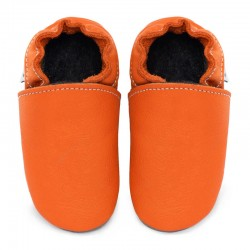 Soft leather slippers - volcanic