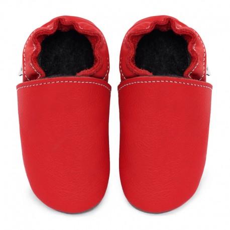 chaussons cuir - santa claus