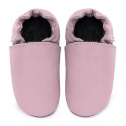 Soft leather slippers - cameo