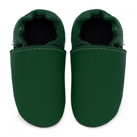 chaussons cuir - avocado
