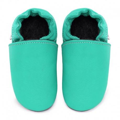 chaussons cuir - caraibe