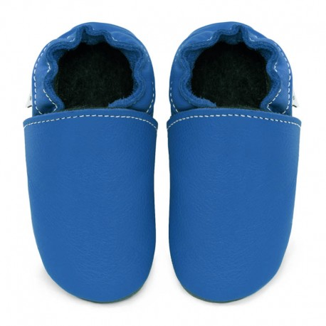 Soft leather slippers - jeans