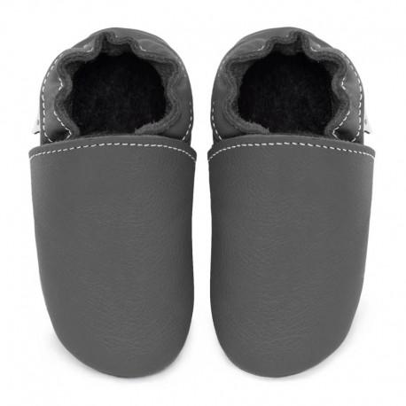 chaussons cuir - fog