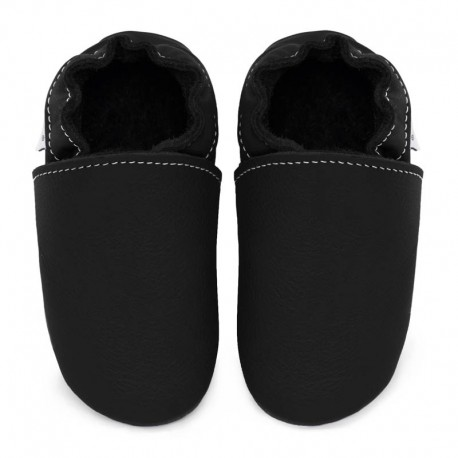 Soft leather slippers - nero