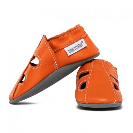 chaussons cuir été - volcanic