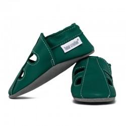 chaussons cuir été - avocado