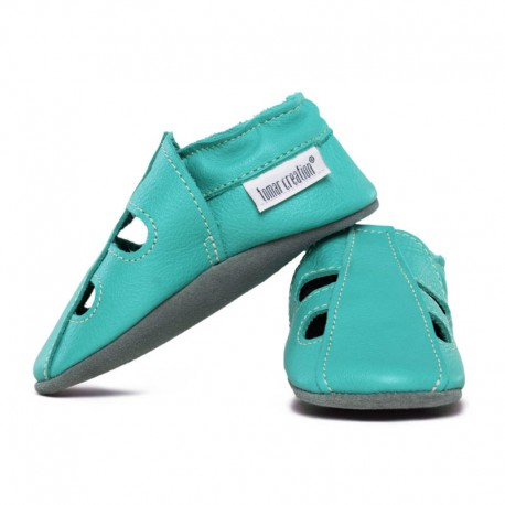 Summer leather slippers - caraibe