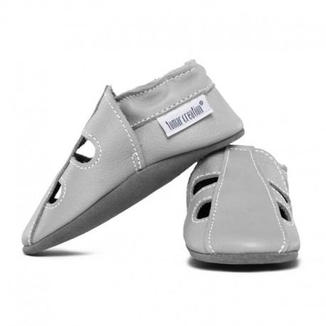 Summer leather slippers - perla