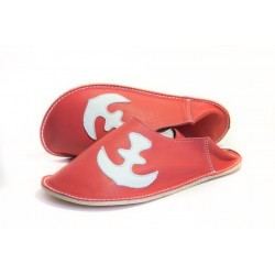 Babouches ancre - rosso fueco