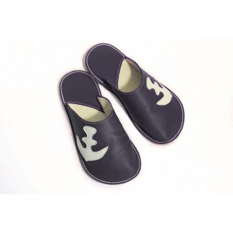 Slippers Bab´s black anchor