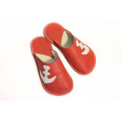 Papuče Bab´s - červená kotva