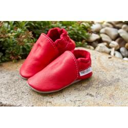 Bio kožené papuče  -  feuerrot