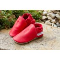 Organic leather slippers - feuerrot