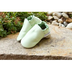 Organic leather slippers - grasshoper