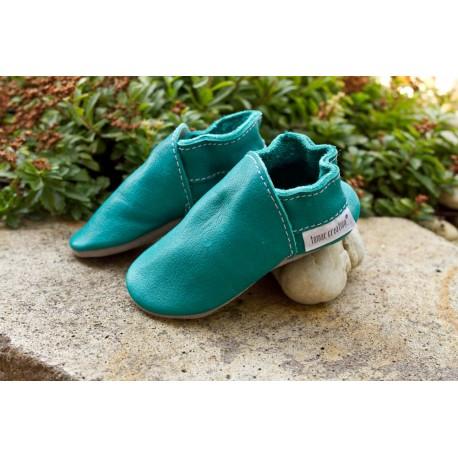 Organic leather slippers - waikiki