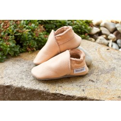 Organic leather slippers - tara