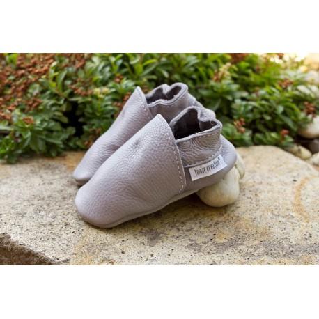 Organic leather slippers - olifant