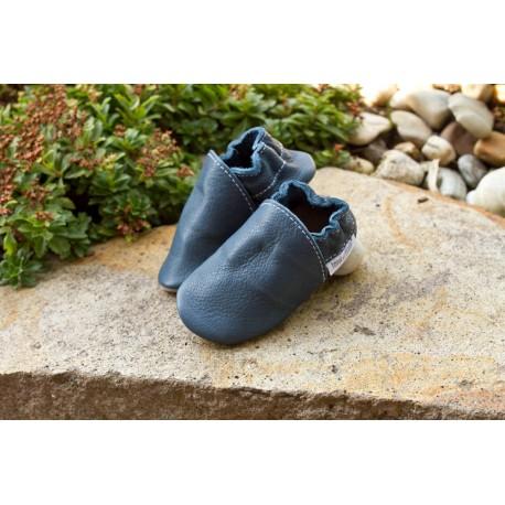 Chaussons cuir bio - Tobagoblau