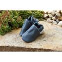 Organic leather slippers - tobagoblau
