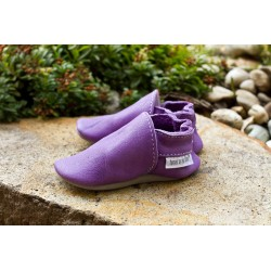 Organic leather slippers - Flieder