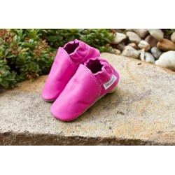 Organic leather slippers - Miss piggy