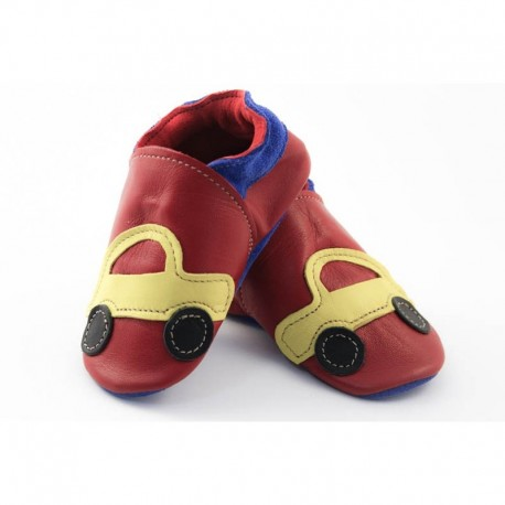 Chaussons - voiture rouge