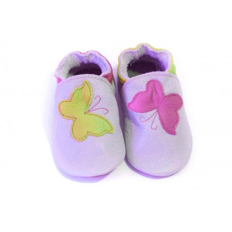 Soft slippers - yellow butterfly