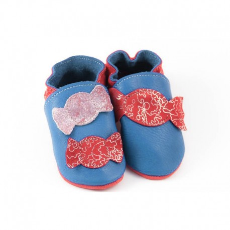 Soft slippers - candy - jeans