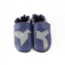 Chaussons - origami - blu marino