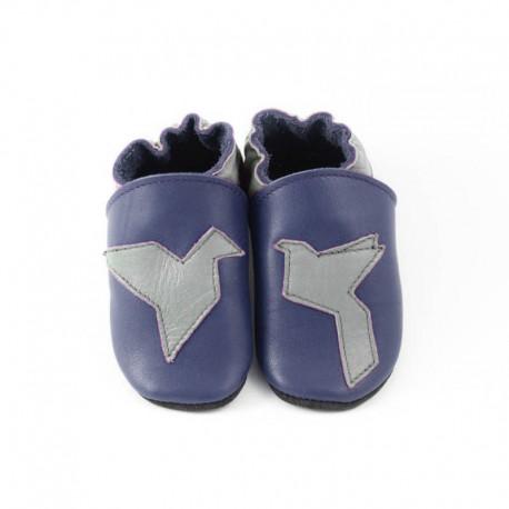 Soft slippers - origami - blu marino