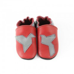 Soft slippers - origami - rosso fueco