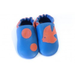 Soft slippers - bubble fish - volcanic