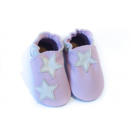 Chaussons - petite étoile - cameo